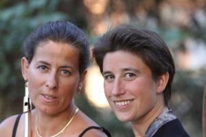 Sandrine Tilly, flûtiste solo de l'Orchestre national du Capitole, et la pianiste Anne Le Bozec