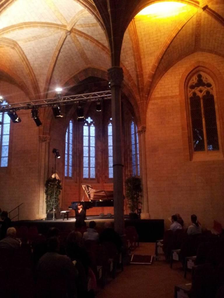 Toulouse, Piano aux Jacobins. la salle de concert du cloître © Bruno Serrou