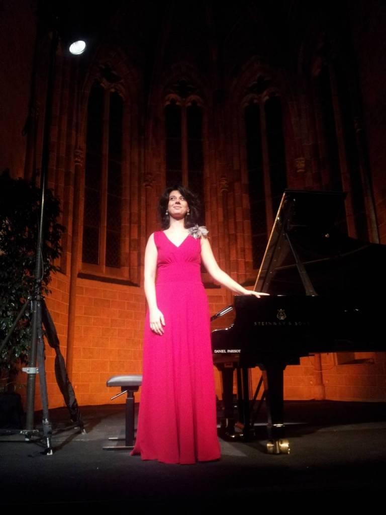 Toulouse, Piano aux Jacobins. Nino Gvetadze au terme de son récital du cloître des Jacobins © Bruno Serrou