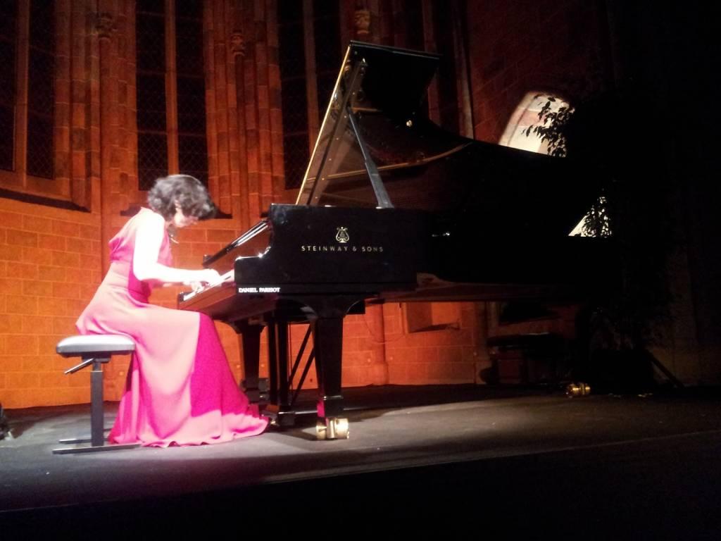 Toulouse, Piano aux Jacobins. Récital Nino Gvetadze cloître des Jacobins © Bruno Serrou