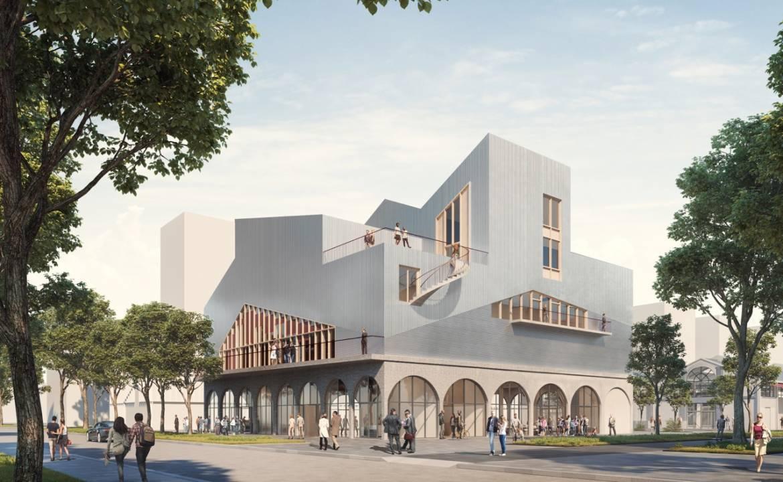 Future salle de spectacles © Chloé Bodart / Construire et OECO Architectes