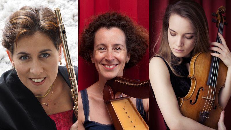Sandrine Tilly, flûte, Gaëlle Touvenin, harpe et Violaine Despeyroux, alto seront le 8 janvier à 18 h 15 à l'auditorium du musée des Abattoirs