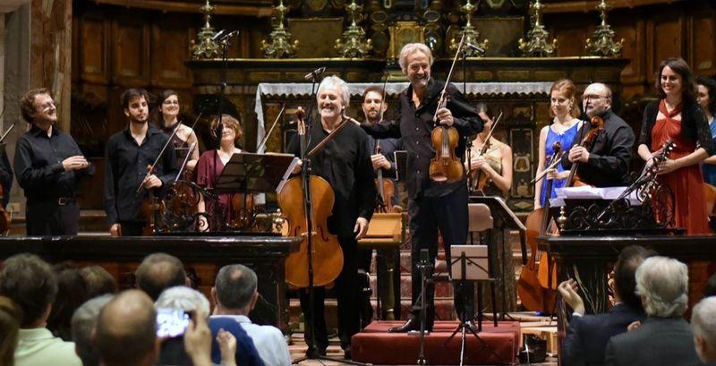Le violoniste Giuliano Carmignola et l'orchestre de L'Accademia dell'Annunciata