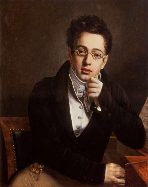 Franz Schubert à 17 ans (portrait anonyme)