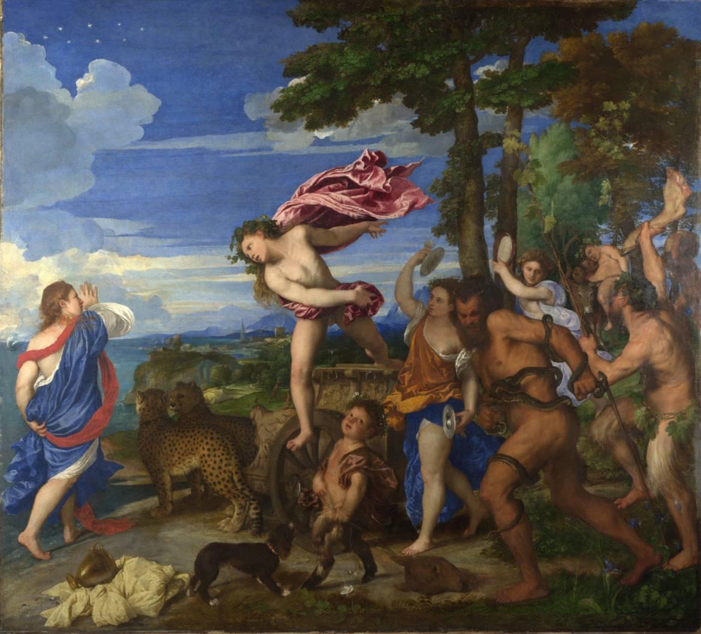 Ariane et bacchus - Le Titien