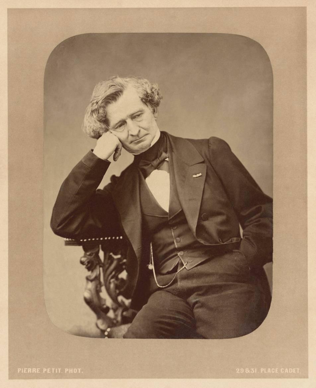 Hector Berlioz par Pierre Petit, photographie de 1863