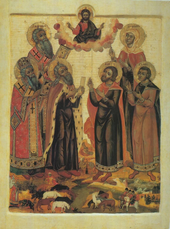 Six Saints - Russie septentrionale, première moitié du XVIIIè siècle