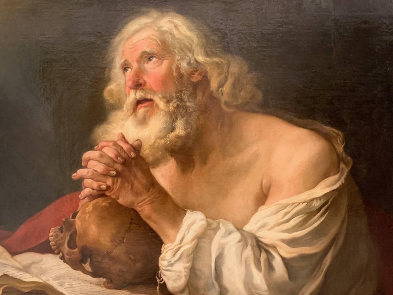 Saint-Jérôme en prière (détail) - Joseph Marie Vien