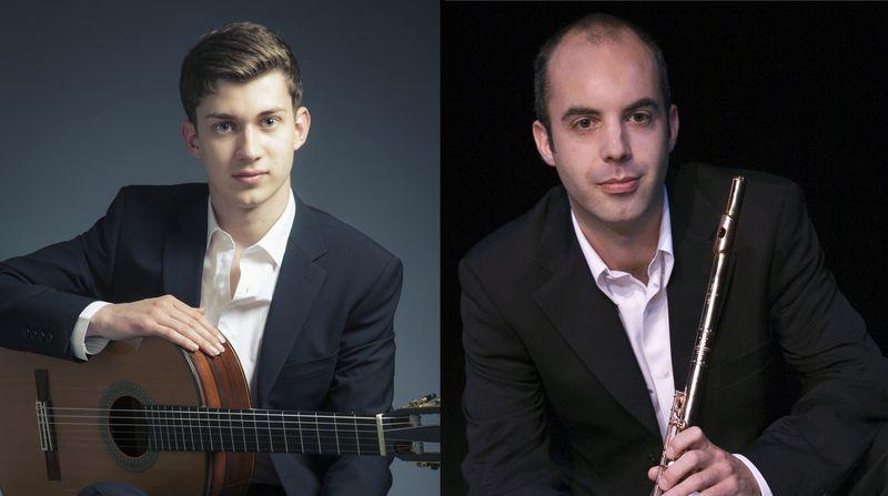 Le guitariste Thibaut Garcia et le flûtiste Boris Grelier