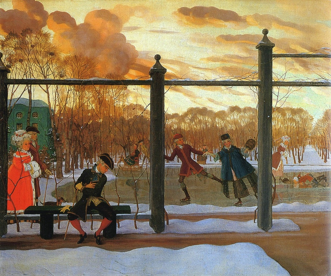 Jardin d'Hiver à Saint-Pétersbourg - Konstantin Somov