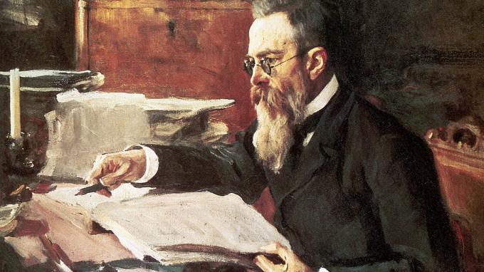 Nikolai Rimski Korsakov (1844-1908), peinture par Serov