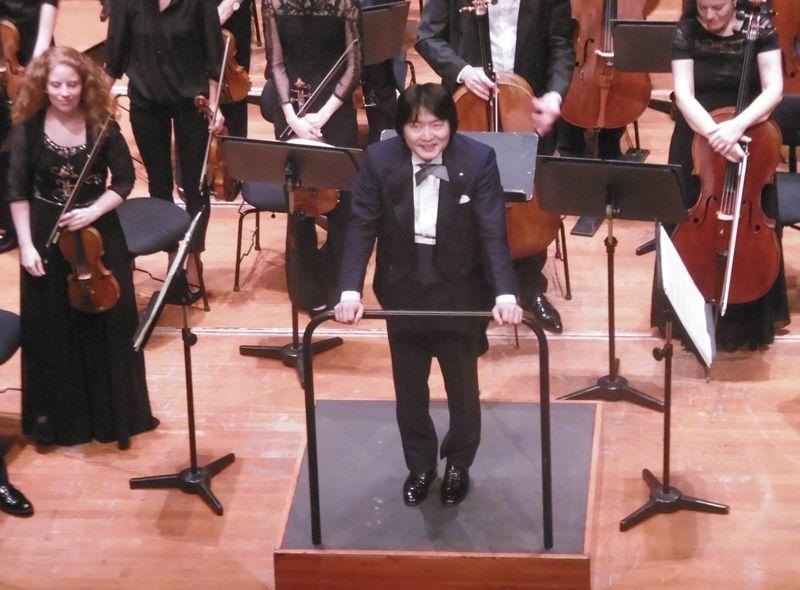 Kazuki Yamada au cours d'un précédent concert à la Halle aux Grains - Photo Classictoulouse -