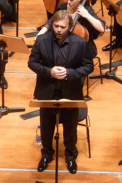 Le baryton britannique Garry Magee lors d'un précédent concert à la Halle aux Grains