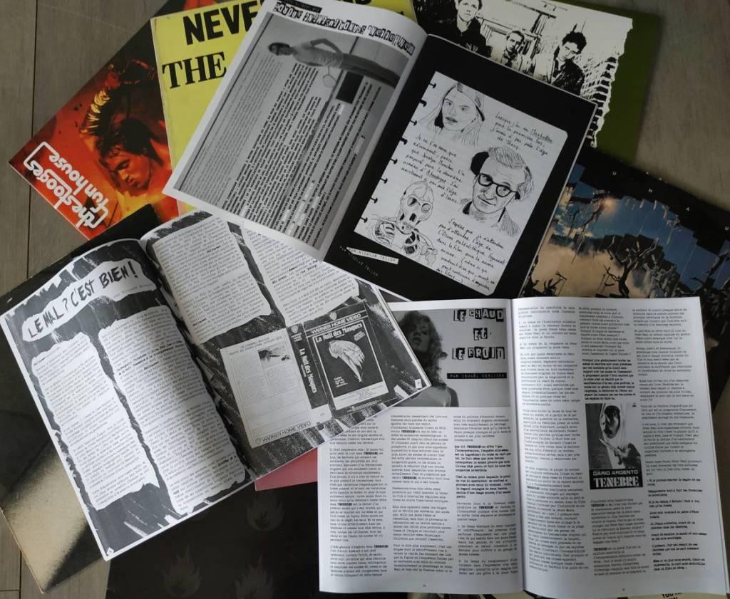 """Trois premiers numéros du fanzine """"ABORDAGES"""" © Jocelyn Manchec"""