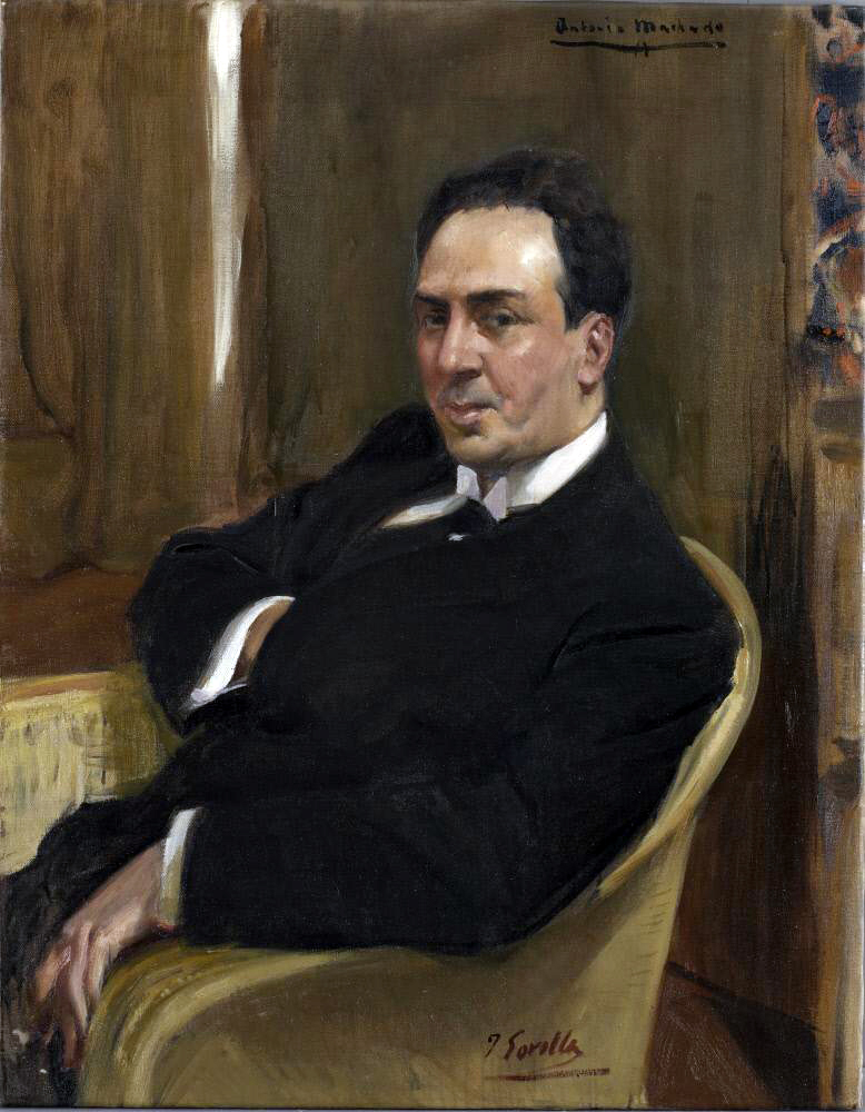 Antonio Machado en 1917, vu par Joaquín Sorolla. Hispanic Society of America (New York)