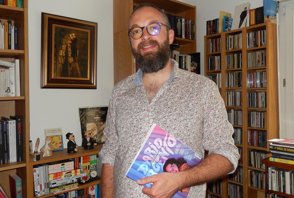 """Nicolas Tellop, rédacteur en chef du hors-série n°1 de """"La Septième Obsession"""" consacré à Dario Argento. (© Nicolas Tellop)"""