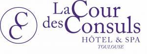 Logo La Cour De Consuls Avec Monogramme Violetcmjn 300x112