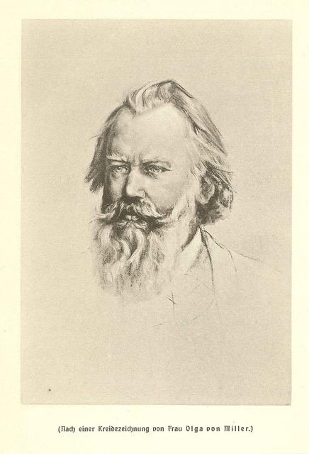 Brahms (1833 - 1897) par Olga bob Milleer (1880)