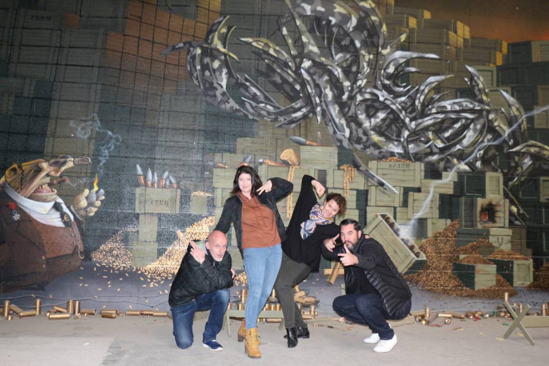 De gauche à droite: Julien, Elsa, Amandine et Hervé