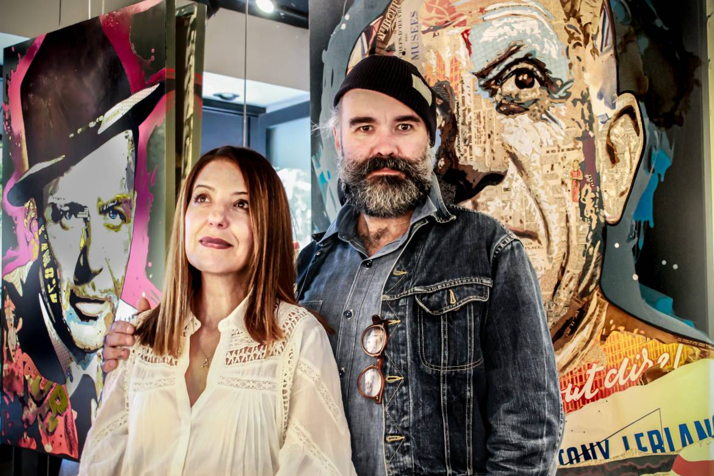 Touria Sakah (galerie Sakah) et Arnaud Bauville