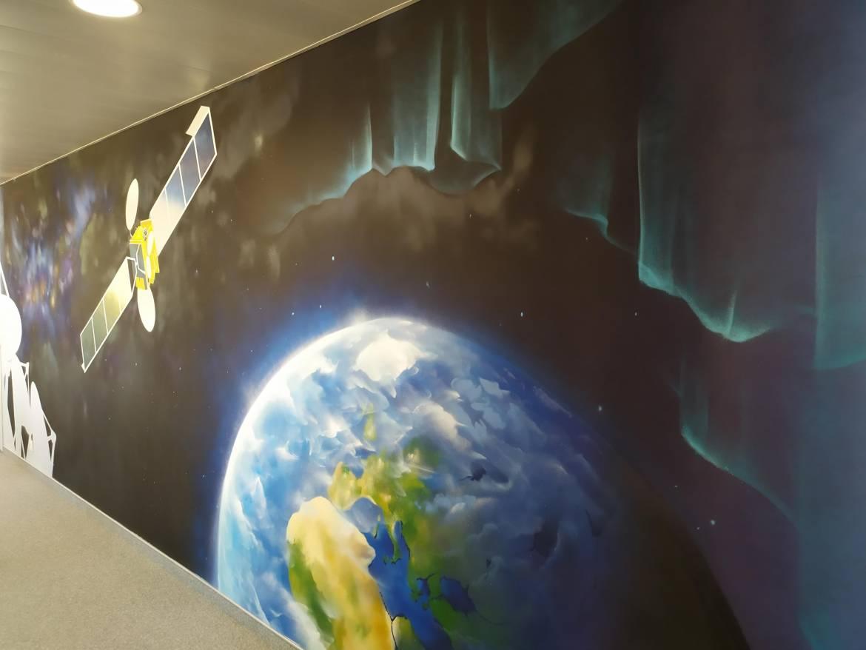 B612 Satellite Terre Aurore Boreale