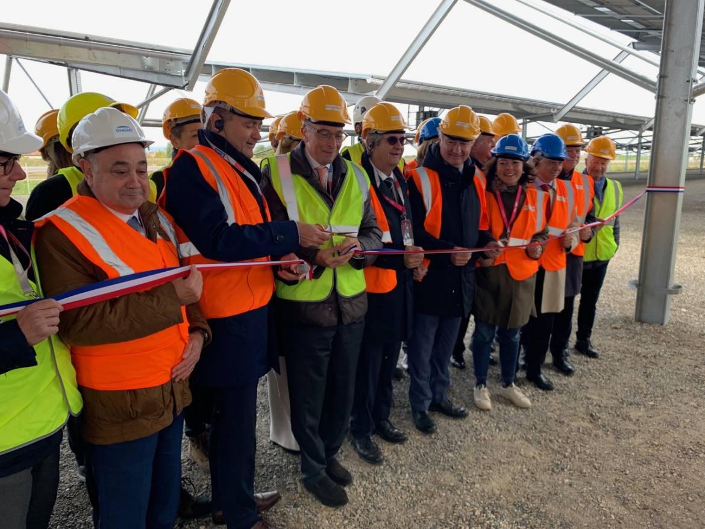 Inauguration du parc d'ombrières de parking photovoltaïques
