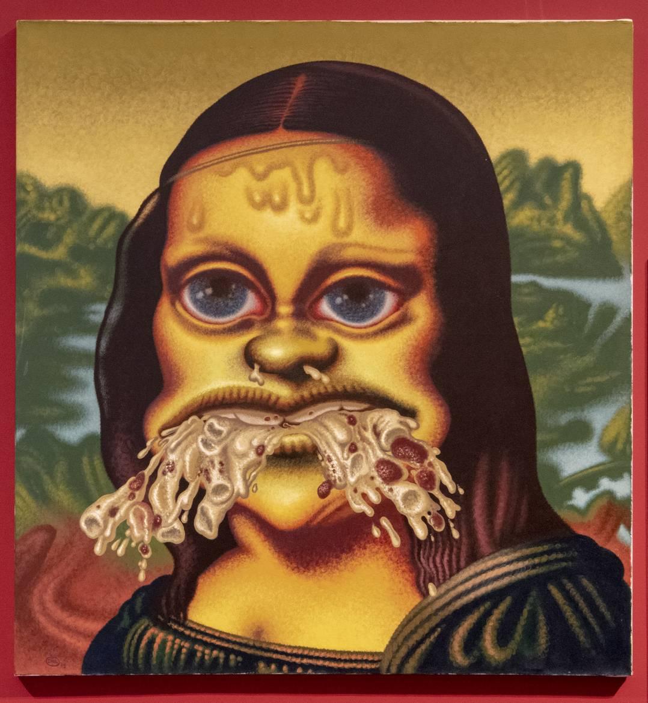 Mona Lisa Throws Up Macaroni
