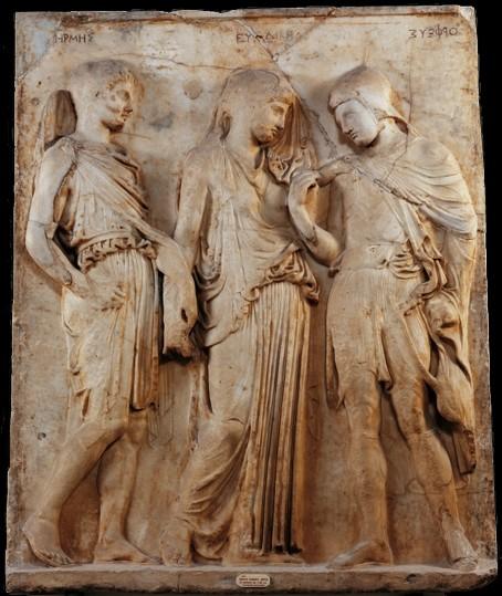 Orphée et Eurydice marbre - Musée de Naples