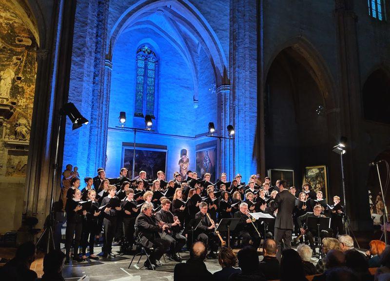 Les Sacqueboutiers et la Maîtrise de Toulouse lors d'un précédent concert - Photo Classictoulouse -