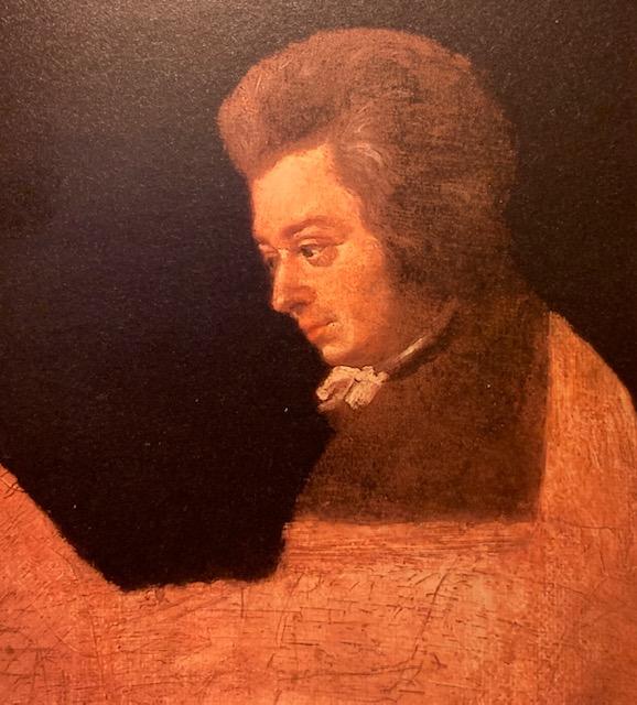 Portrait resté inachevé de Mozart par son beau-frère Joseph Lange en 1782-83