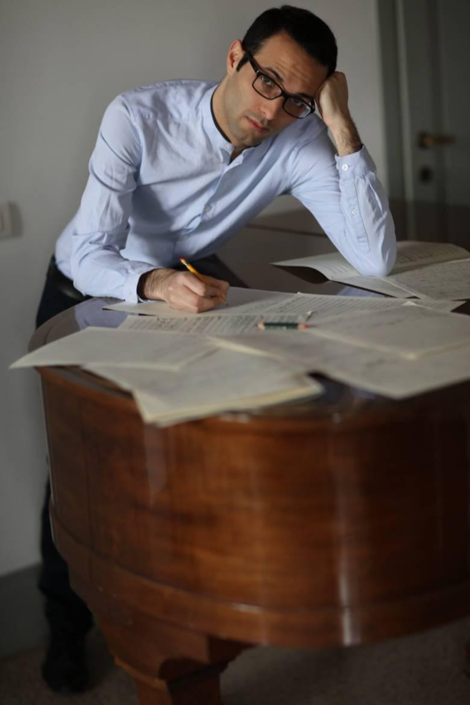 Le compositeur Benjamin Attahir