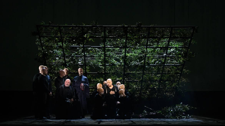 Parsifal - Peter Rose (Gurnemanz), Matthias Goerne (Amfortas) © Cosimo Mirco Magliocca