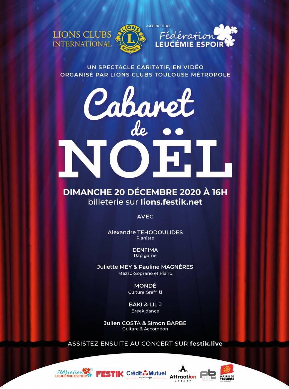 Affiche Cabaret De Noel