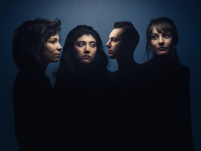 Valeria, Maya, Dimitri et Clémence, membres du groupe Inui