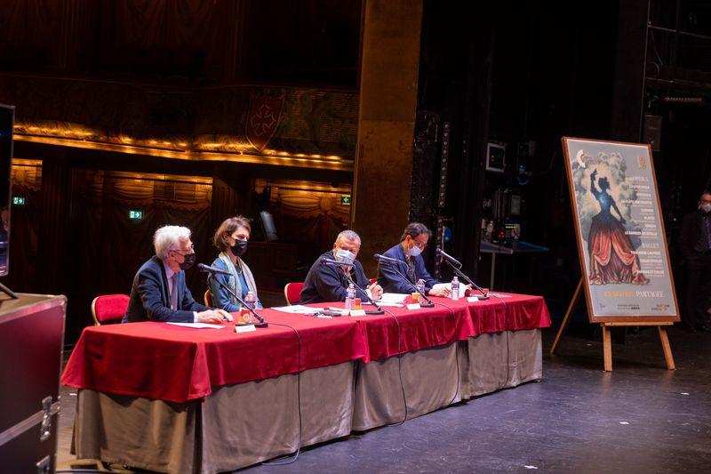 Francis Grass, Claire Roserot de Melin, Christophe Ghristi et Kader Belarbi - Photo Patrice Nin -