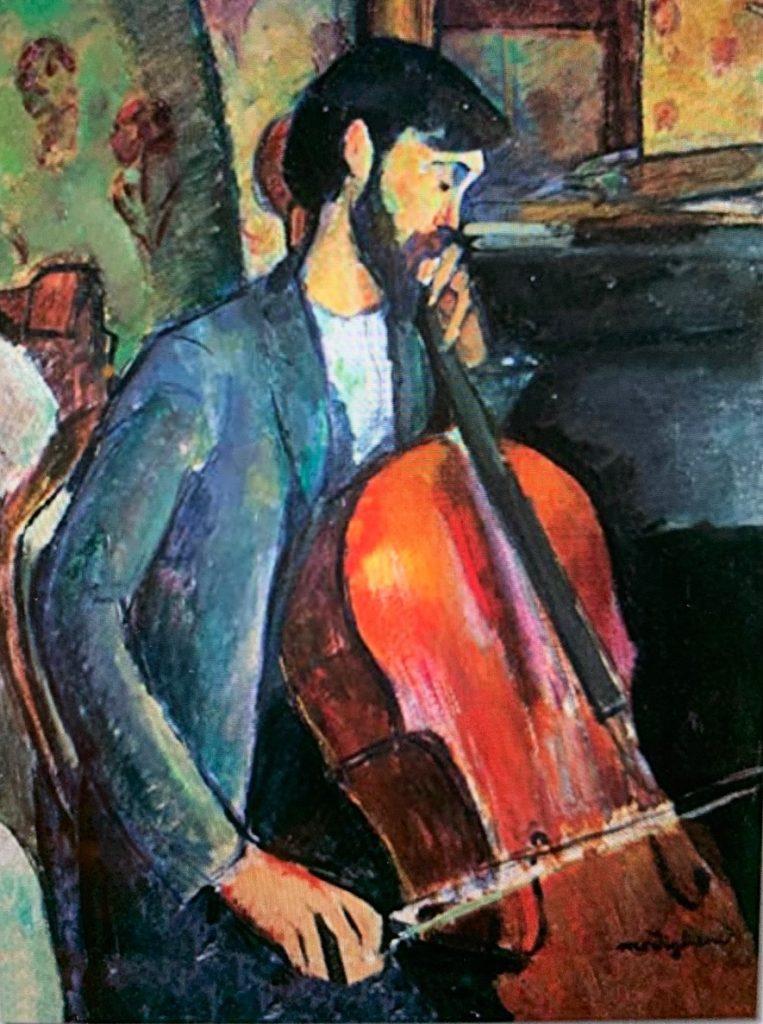 Le Violoncelliste Edouard Modigliani 1909