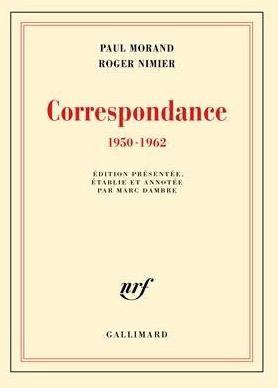 Correspondance (1950-1962), édition présentée, établie et annotée par Marc Dambre, Gallimard