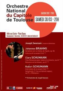 Orchestre national du Capitole, Joseph Swensen