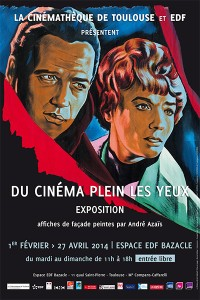 Affiche expo Du cinéma plein les yeux