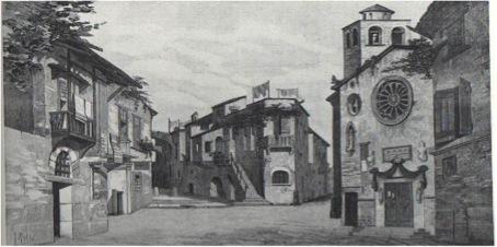 Tableau de la première représentation de Cavalleria rusticana