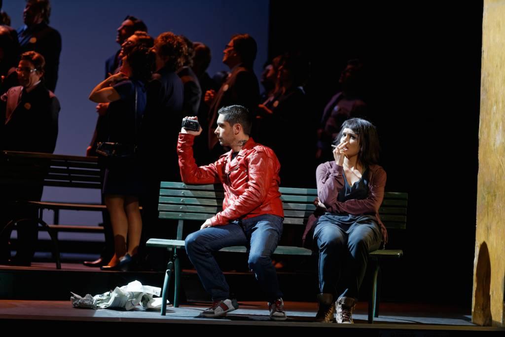 Aimery Lefèvre (Toni), Gaëlle Arquez (Charlie) © Patrice Nin