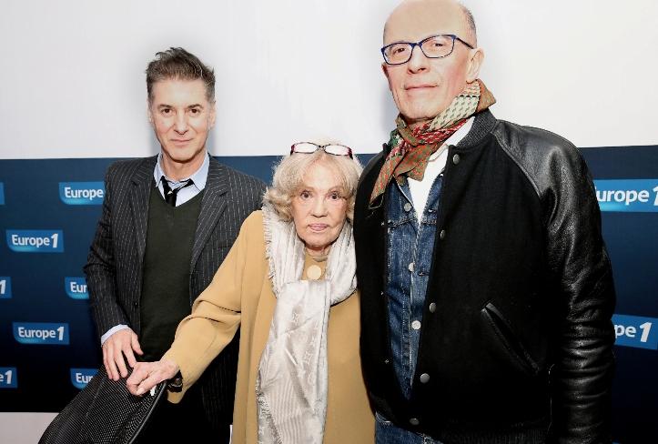 Etienne Daho, Jeanne Moreau et Jacques Audiard © Marie Echegoyen- Capa pictures - Europe 1