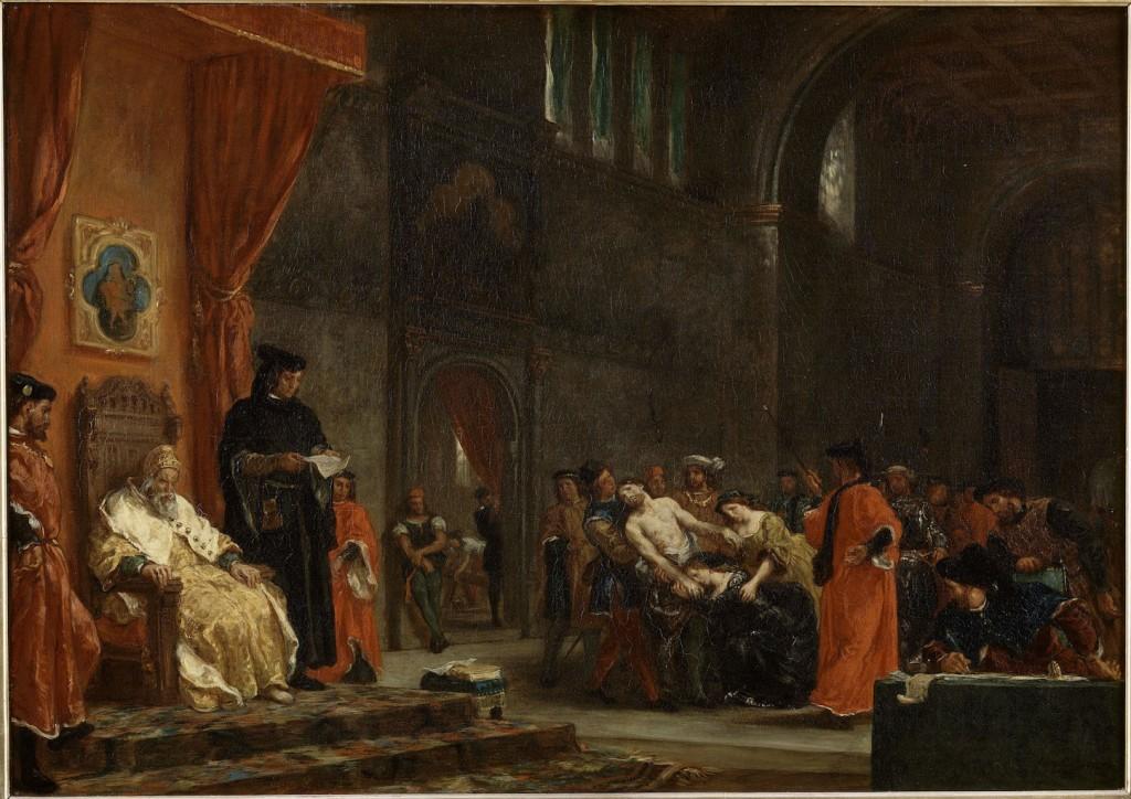 Eugène Delacroix, Les deux Foscari © musée Condé, Chantilly