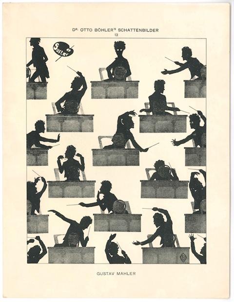 Gustav Mahler silhouette -Otto Böhler