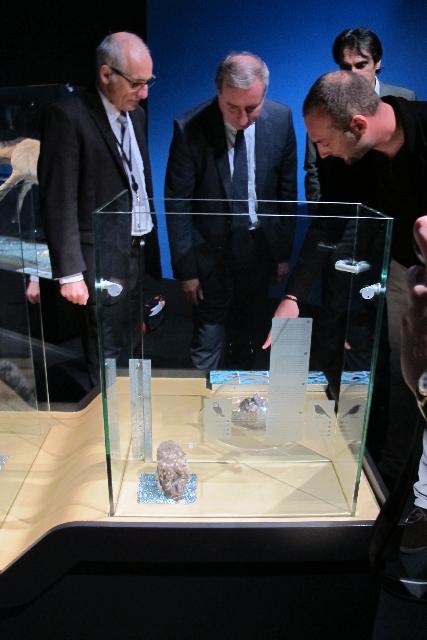 Muséum - Exposition bébés animauxFrancis Duranthon, Directeur du Museum de Toulouse, Jean-Luc Moudenc, Maire de Toulouse, Fabien…, Commissaire de l'exposition , Pierre Esplugas, en charge des musées auprès de la Mairie de Toulouse