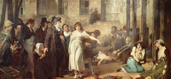 Le Dr Pinel libérant les aliénées à la Salpêtrière en 1795 - Tony Robert-Fleury © Centre national des Arts plastiques, Paris - photo RMN
