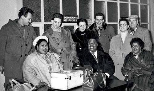 Louis Amstrong à l' Aeroport de Blagnac (1952)