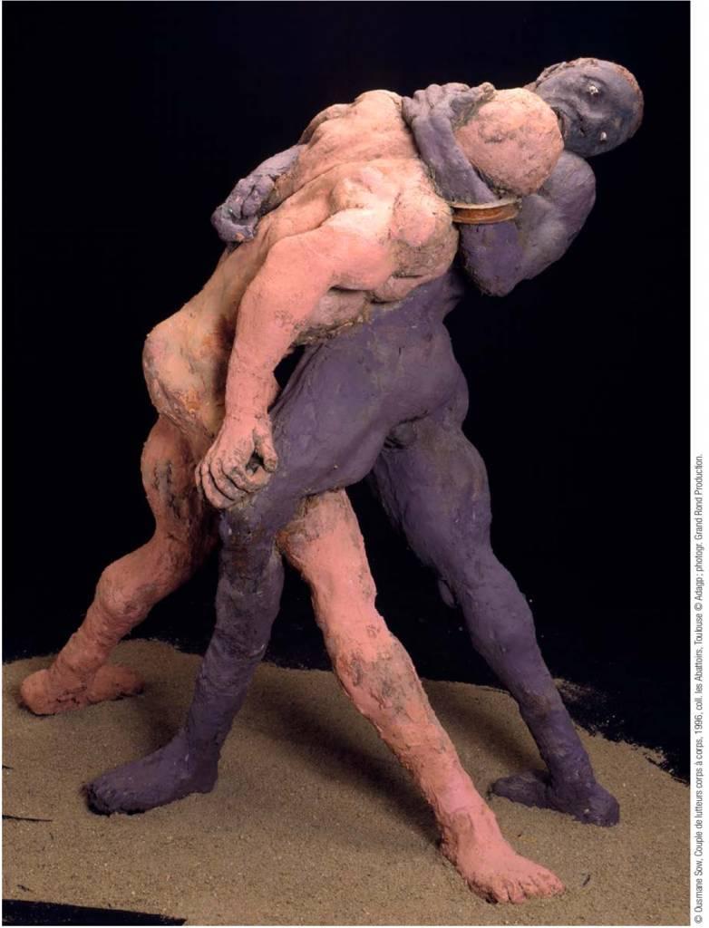 Couple lutteur Massaï - Ousmane Sow