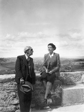 Paul Valéry et Jean Voilier au château de Béduer (Lot)
