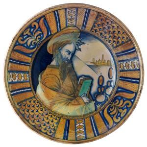 Plat d apparat Deruta-Maître du pavement de San Francesco, (Nicola Francioli